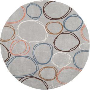 Wool round rug