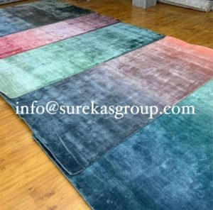 Luxury silk custom rugs for living room